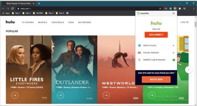 PureVPN Hulu Unblocked
