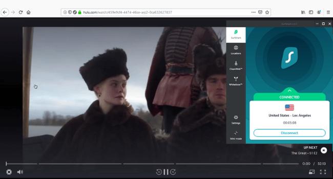 Surfshark Hulu Unblocked