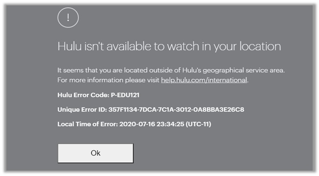Hulu Not Available Outside US