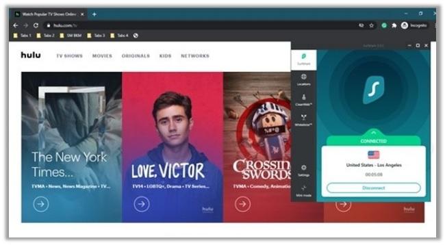 Unblock-Hulu-with-Surfshark