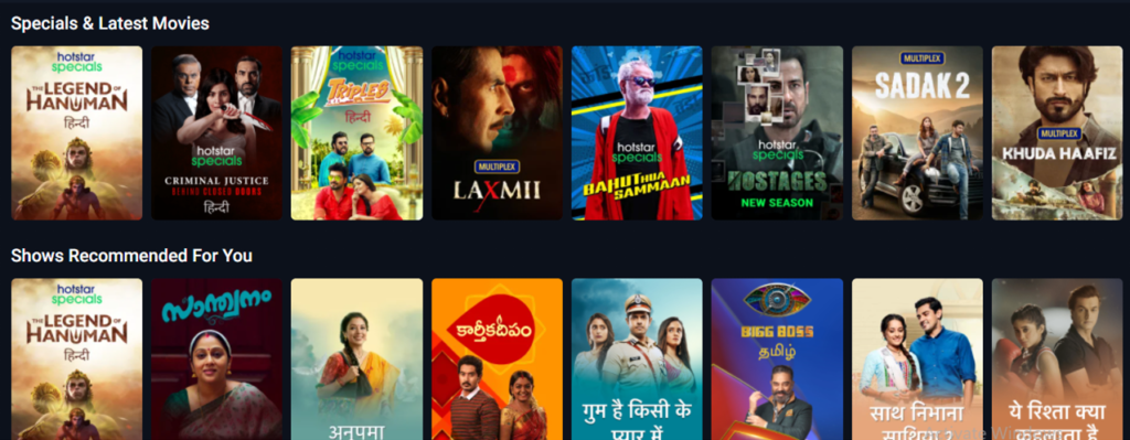 Streaming Services Singapore: HotStar
