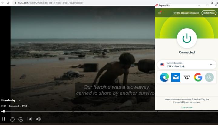 ExpressVPN Streaming Hunderby on Hulu