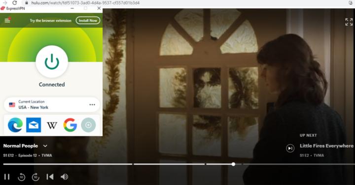 ExpressVPN Streaming Normal People om Hulu